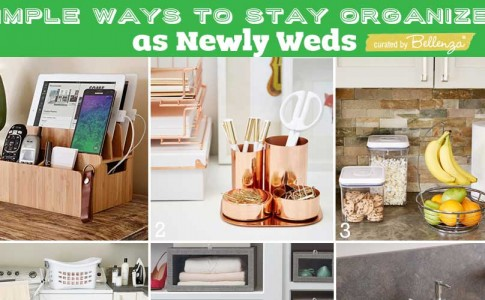 How to stay organized as newlyweds and make the transition to married life easier. Curated by Bellenza.