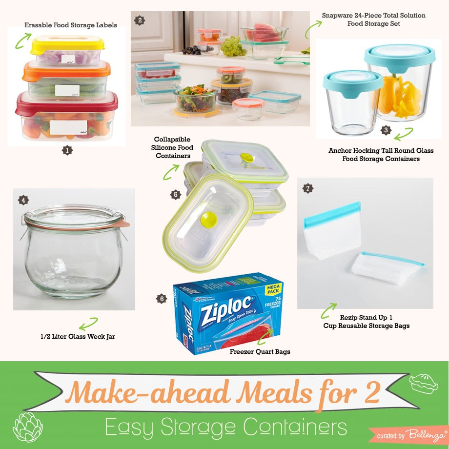 Easy storage containers for freezer meals