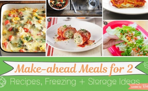 Freezer meal and make-ahead food containers.