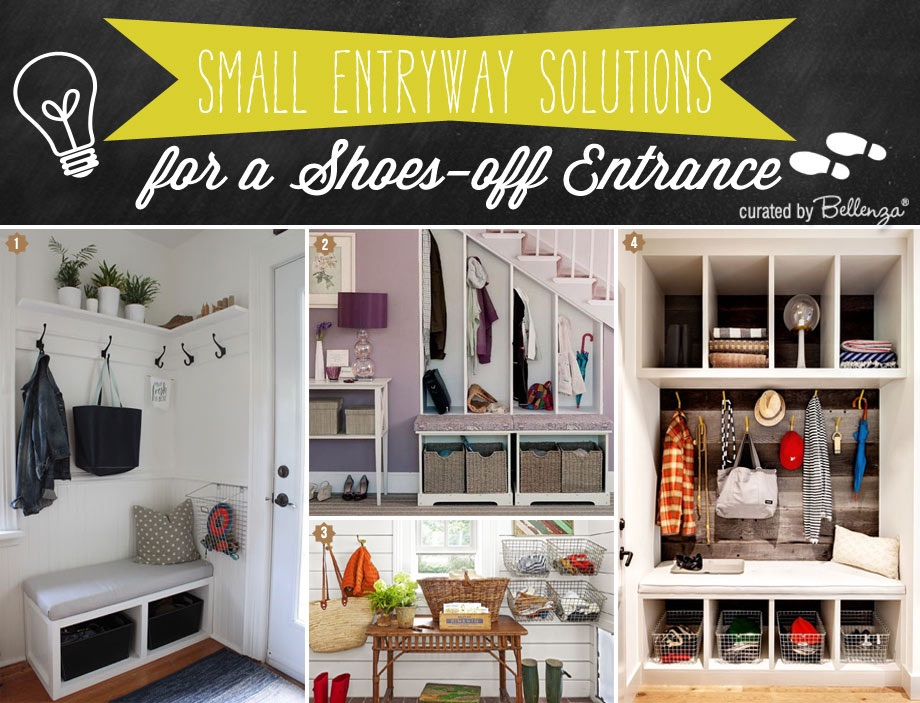 Solutions for entryway in a small space.