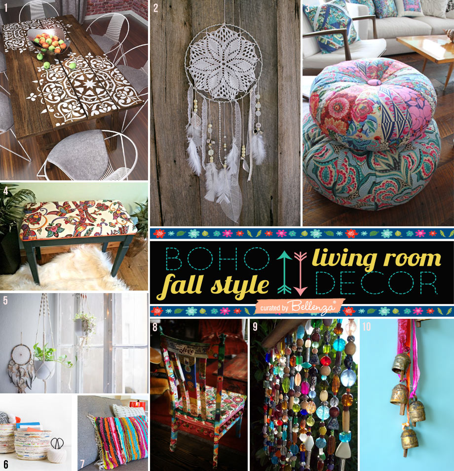 How to Decorate Your Living Room with a DIY Boho Fall Style