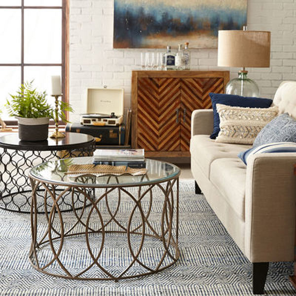 Bronze Iron Round Coffee Table