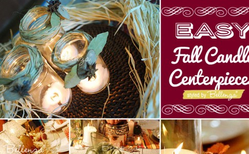 Fall Candle Centerpieces to Make at Home