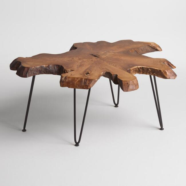 Woodslice style coffee table