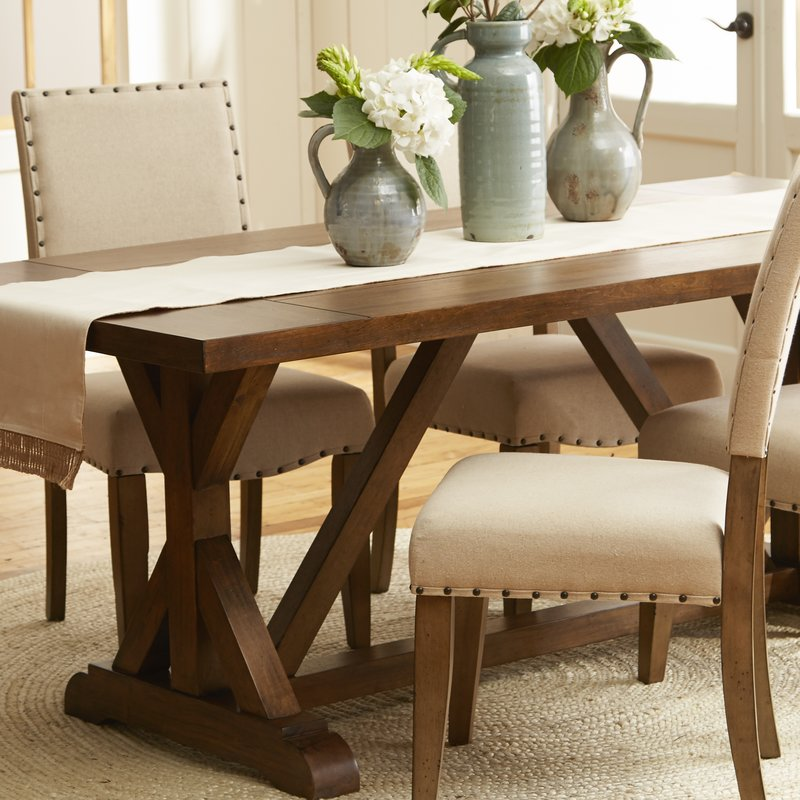 Farmhouse-inspired dining table from Wayfair.