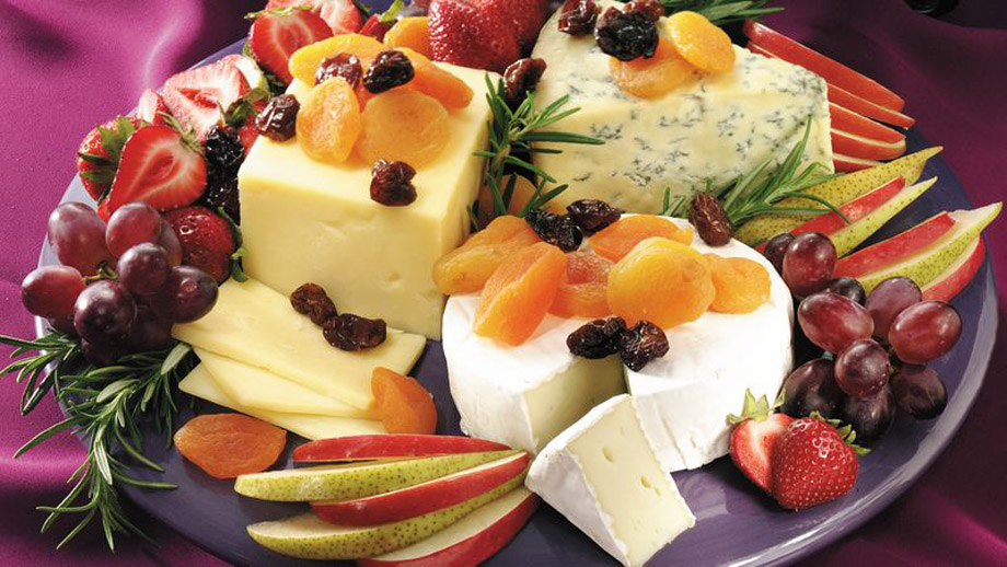 6 - Elegant Cheese and Fruit Platter from Betty Crocker