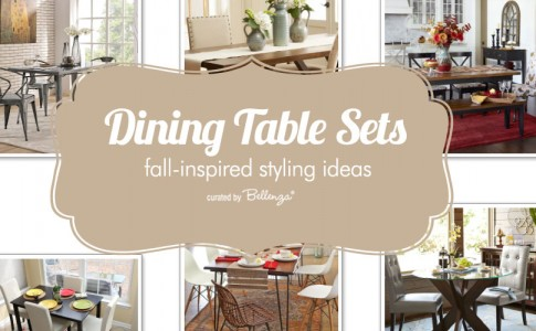 Fall styling ideas for dining tables.