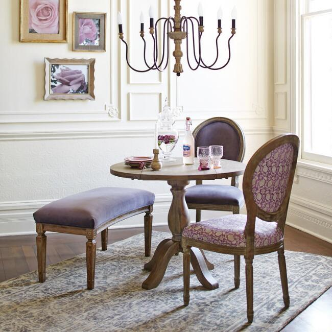Weathered Gray Wood Dining Table