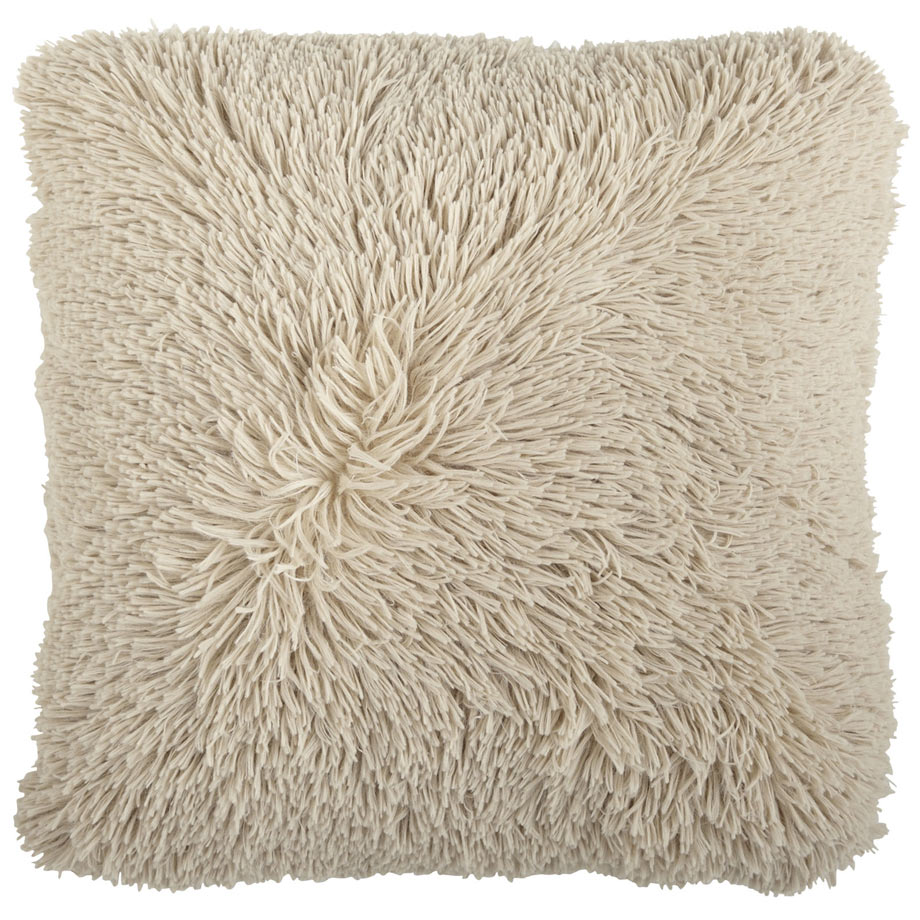 Oversized Shaggy Tan Pillow via Pier 1.