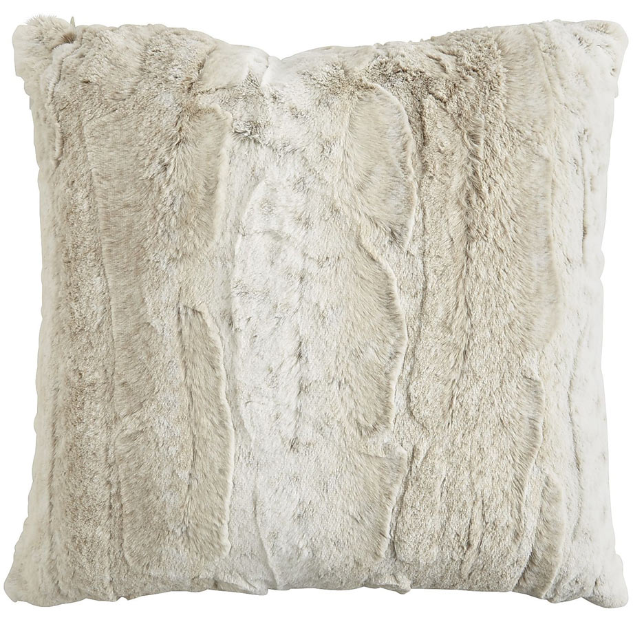 Fuzzy Faux Snow Leopard Pillow via Pier 1.