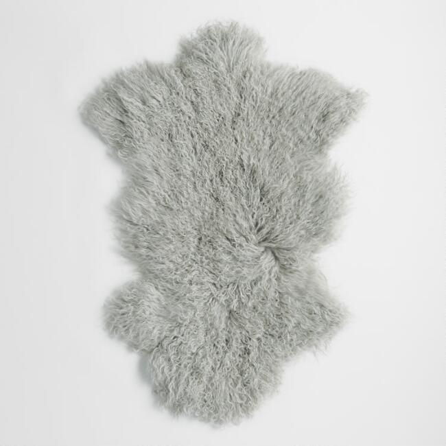 Grey Sheepskin Rug via World Market
