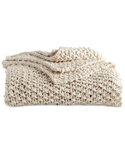 Cream Knit Throw via Macy's