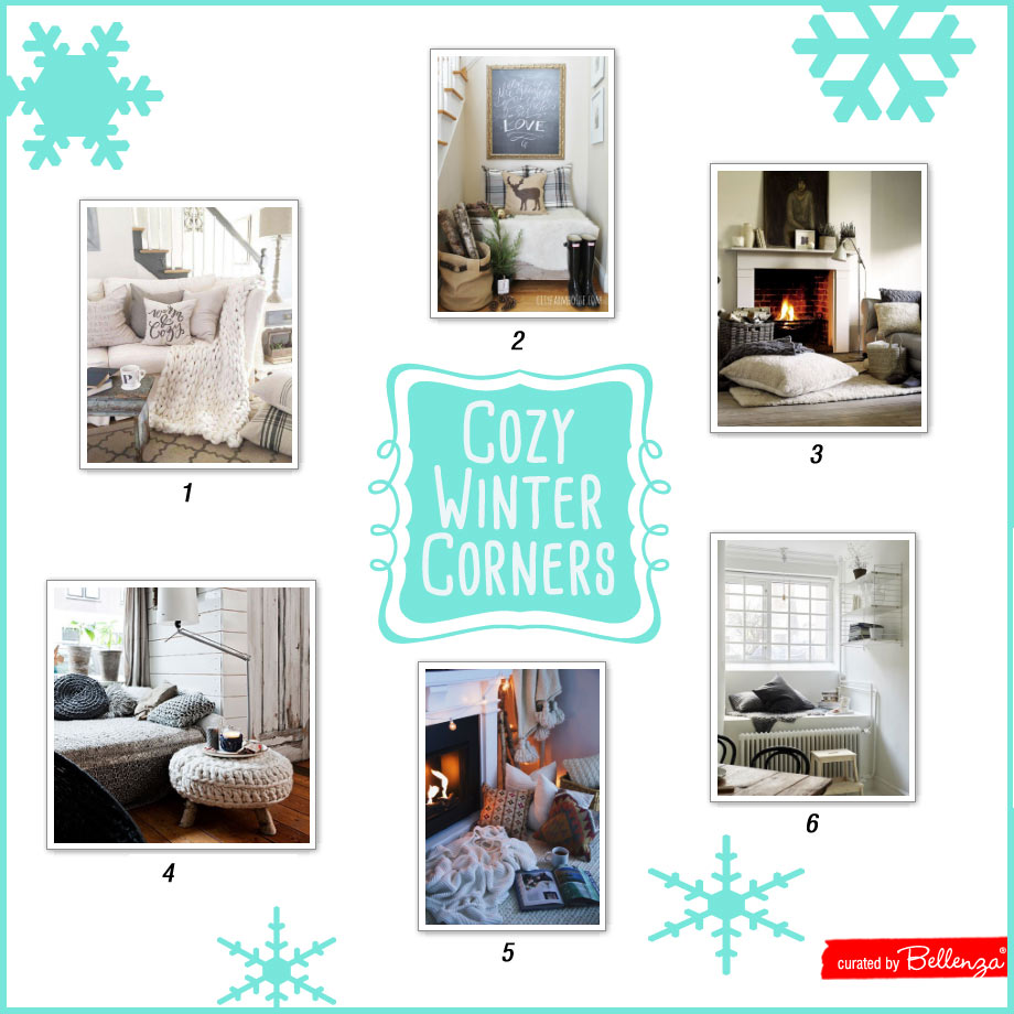 How to Create a Cozy Winter Corner for Yourself with Product Tips and Room Inspiration for Styling.