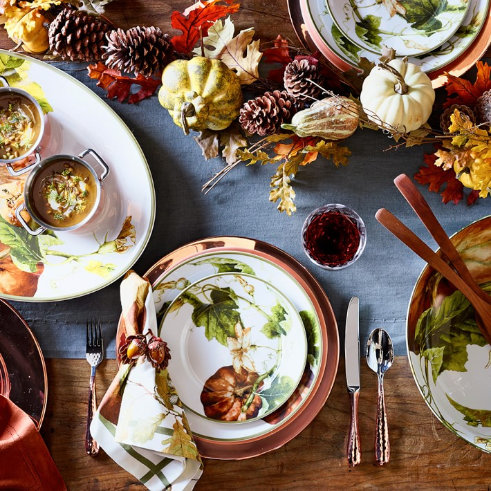 Botanical Pumpkin Dinner Plates via Williams-Sonoma