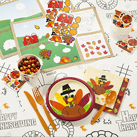 Fun Turkey Thanksgiving Tableware Kit