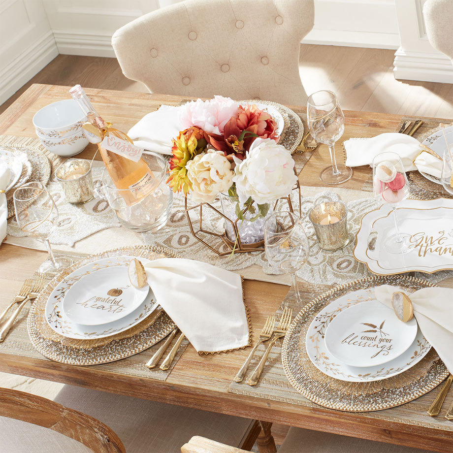 Gilded Wreath Dinnerware from Pier1 Imports