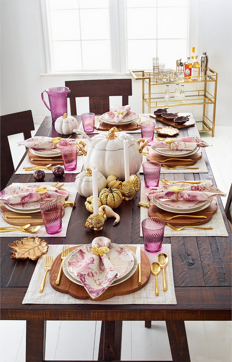 Harvest Marbled Martha Stewart Collection via Macy's.