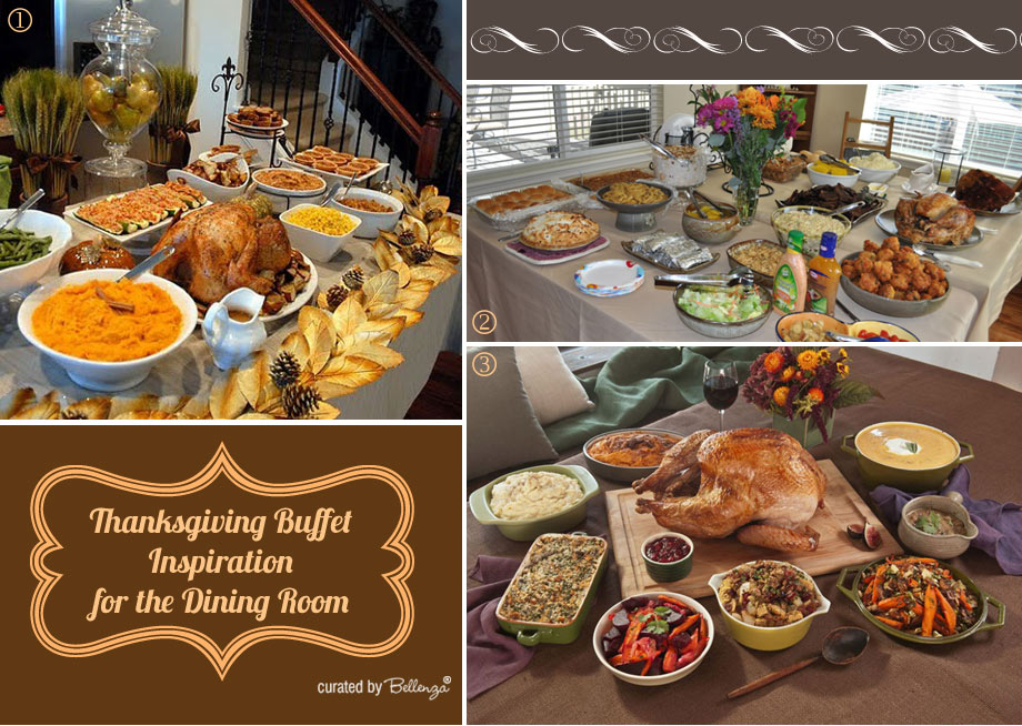 Thanksgiving Buffet Inspiration for the Dining or Living Room