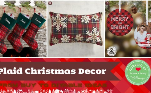 Plaid Christmas Home Decor from Buy to DIY