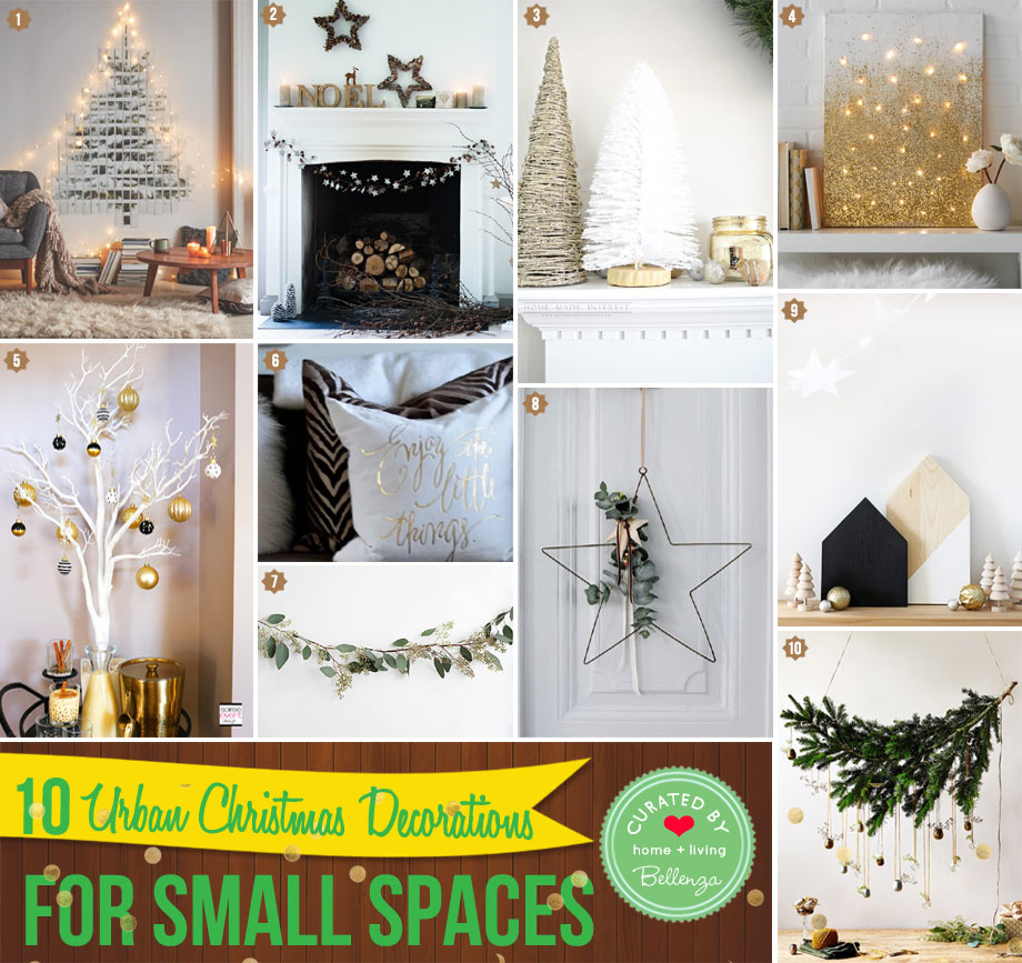 Urban-inspired Christmas Decor for Small Spaces From Wall Trees to Color Blocked Elements