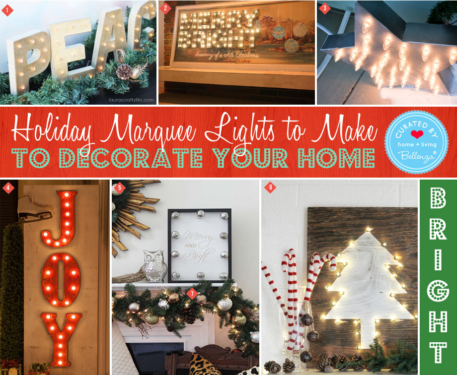 DIY Christmas Marquee Decorations