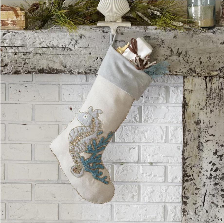 Seahorse stockings via Birch Lane