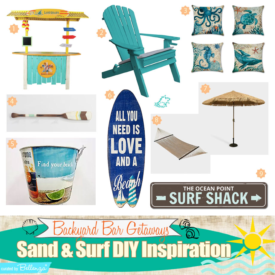 9 Elements for a Backyard Bar Getaway with a Surfing Theme