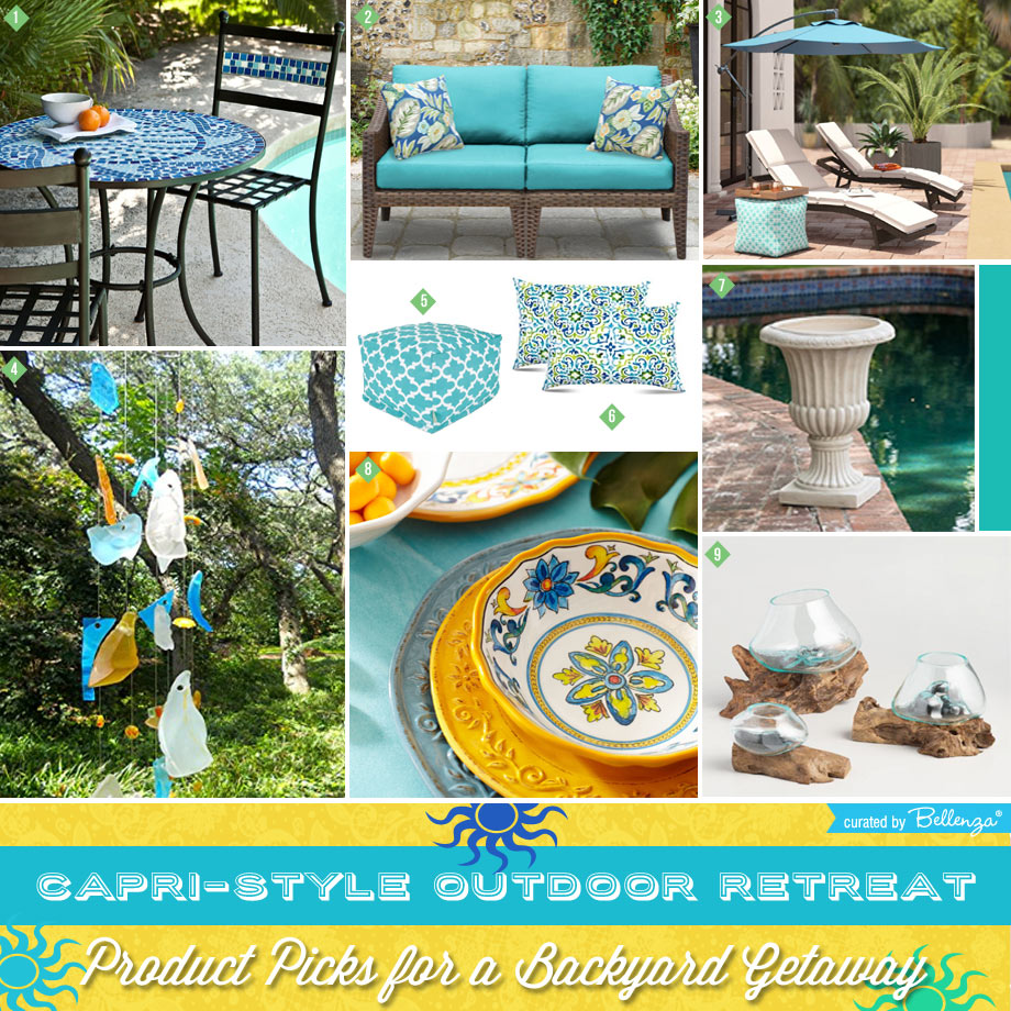 Outdoor Furniture + Decor for Your Capri-style Corner