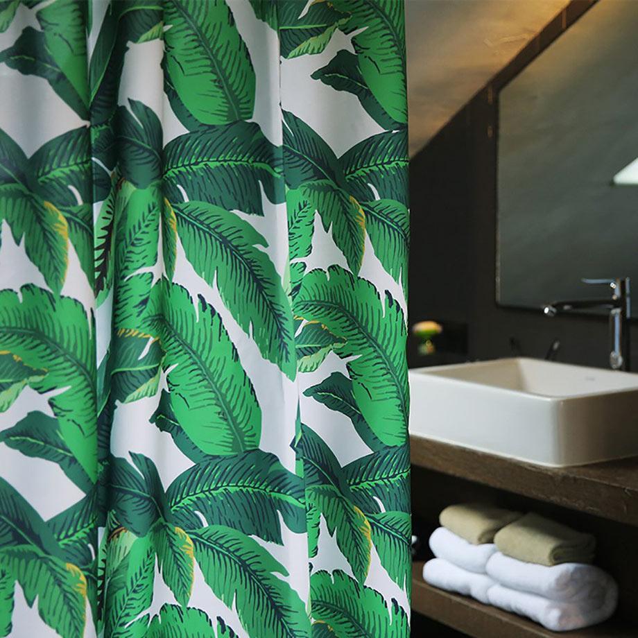 banana leaf curtain via amazon