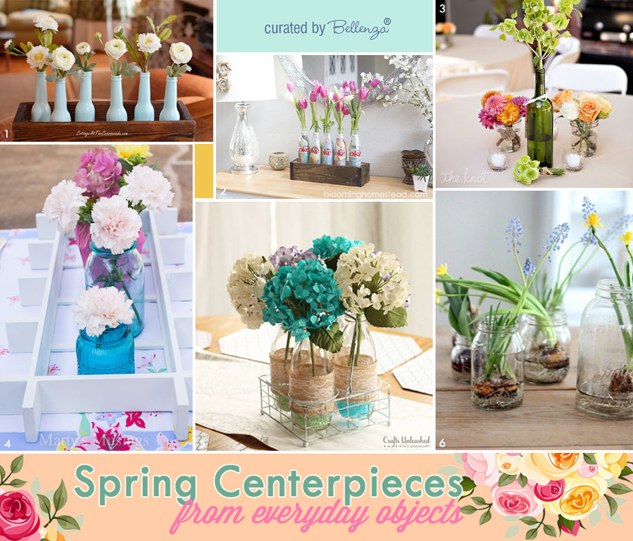Diy Spring Centerpieces from Everyday Objects - No SPend Spring Centerpieces Vases