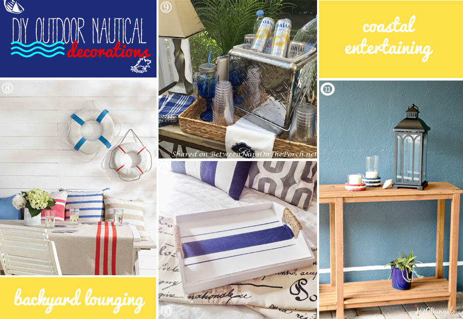 Entertaining and Lounging Ideas for Nautical Patio Entertaining