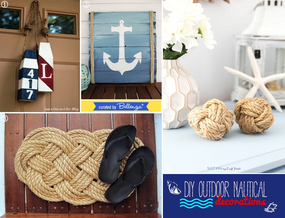 Wood and Rope Nautical Outdoor Decorations