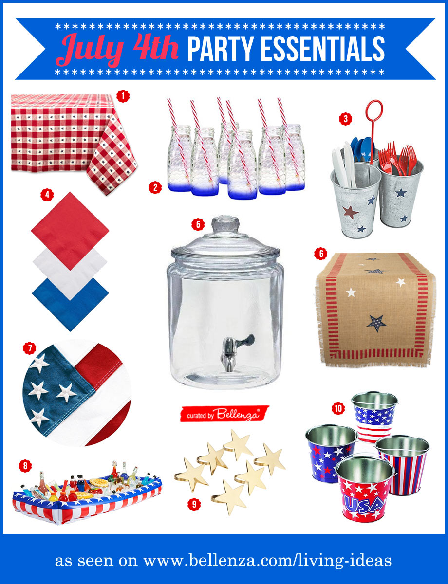 July 4th party essentials for hosting your first party as newlyweds.