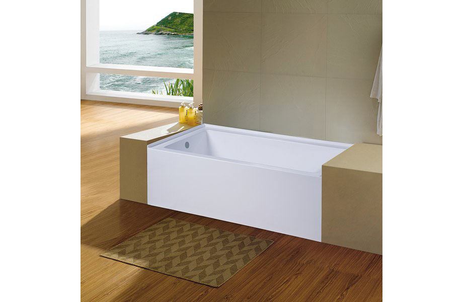 "KINGSTON BRASS - Aqua Eden 60"" x 31"" Alcove Soaking Bathtub"