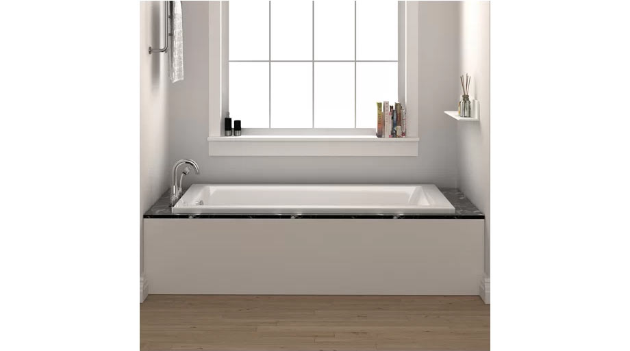 "FINE FIXTURES Drop-In Bathtub 32"" x 48"" Soaking Bathtub"