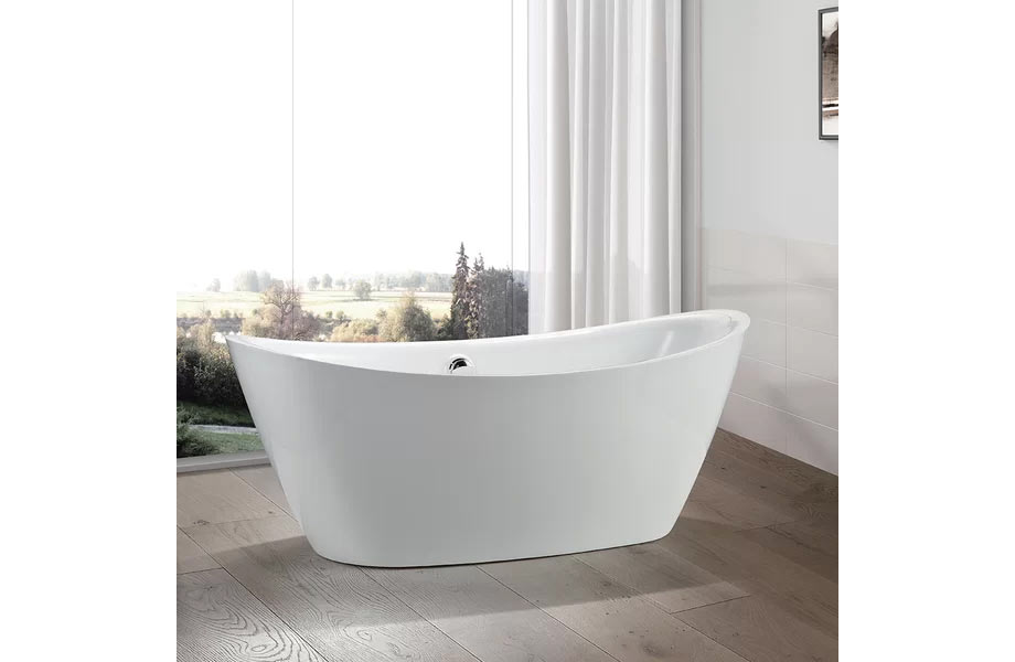 "VANITY ART - 71"" x 34"" Freestanding Soaking Bathtub (VA6807)"