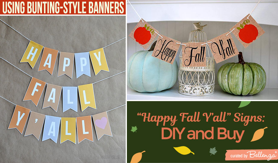 Happy fall signs bunting
