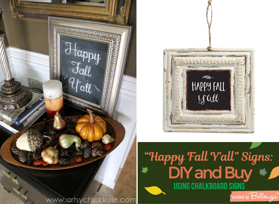 chalkboard style fall signs