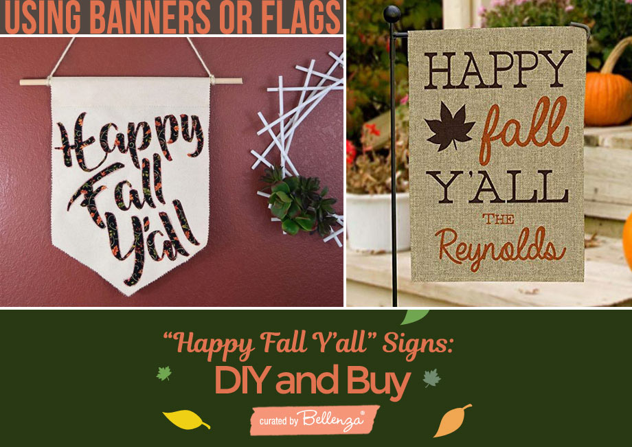 fall messages on flags