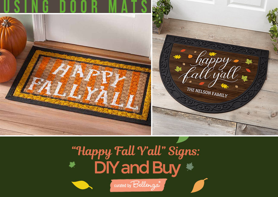 fall signs on doormats