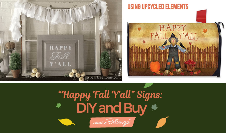 Happy-fall-signs upcycled materials
