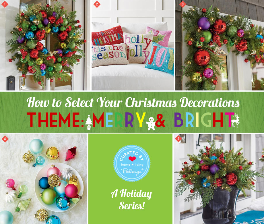 Merry and Bright Colorful Christmas Ornaments to Stockings.