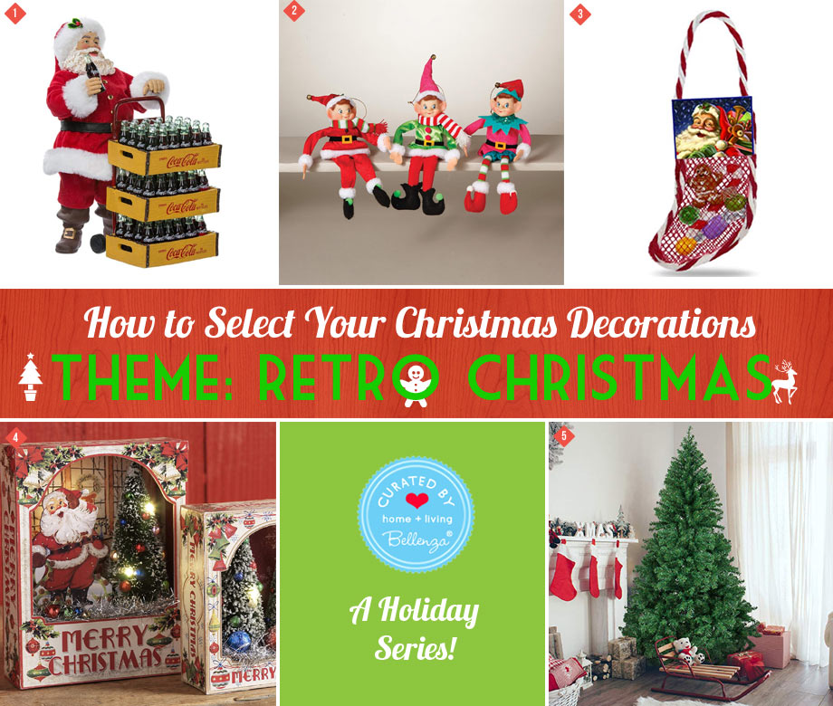 Retro Christmas Decorations with a Vintage Feel.
