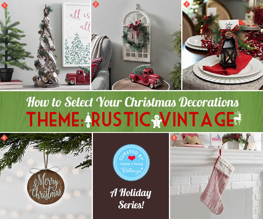 Rustic Vintage Theme for Christmas Decorations