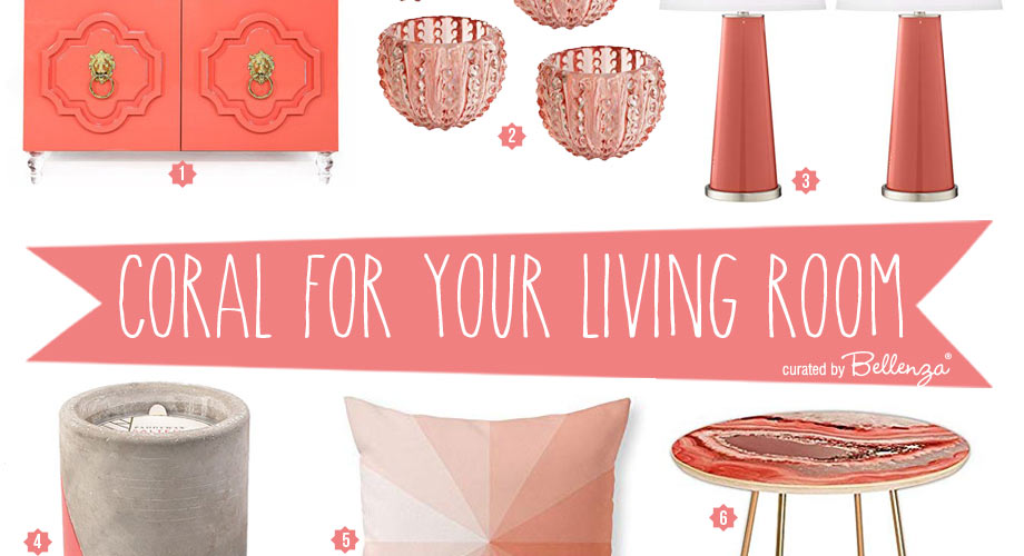 Living Coral Decorative Accents And Furniture Pantone S Color Of The Year 2019 Bellenza Weddings And Parties