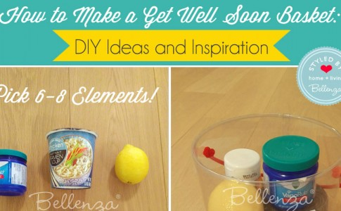 How to make get well soon baskets or care packages.