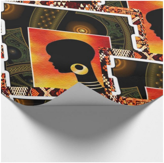 African 70s wrapping paper