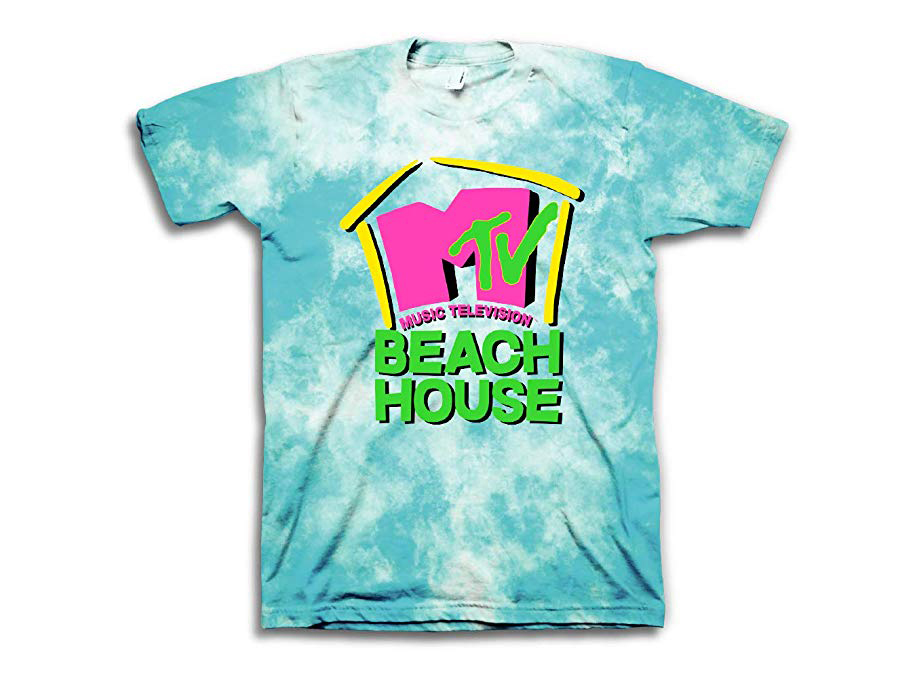 MTV Beach House Tie-dye Shirt in sea foam