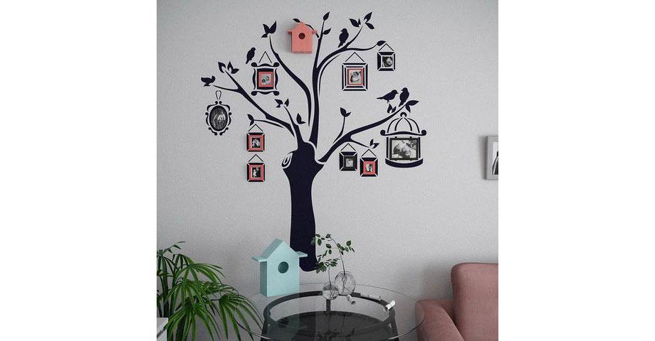 Family tree using stencils