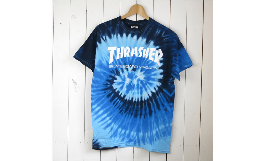 Blue tie-dye shirt Thrasher via Rakuten